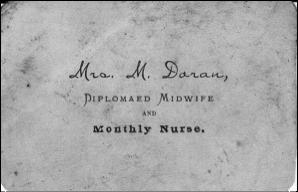 Mrs M Doran Card