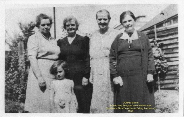 Doran, sisters (Norah, May, Margaret, Kathleen)w Christine ©1951
